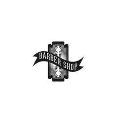 razor blade barber logo inspiration isolated on vector image