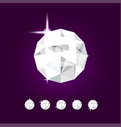 realistic diamond jewel gem vector image