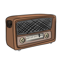 retro broadcast radio receiver vector image