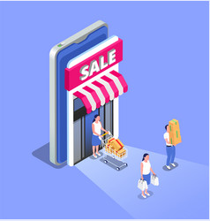 Sale isometric poster vector
