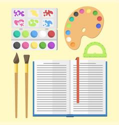 school supplies children stationary educational vector image