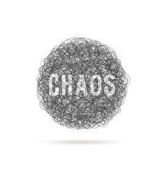 Scribble black line like chaos ball vector