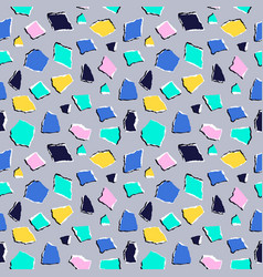 seamless pattern in collage style vector image