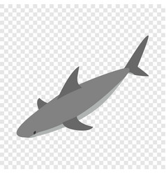 Shark isometric icon vector