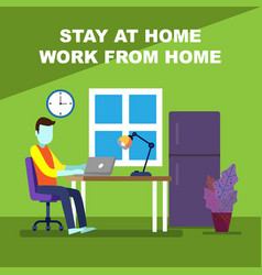 stay at home 2 vector image
