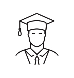Student line icon vector
