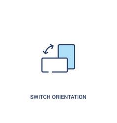 Switch orientation button concept 2 colored icon vector