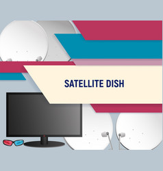 template tv and satellite dishes vector image