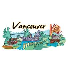 Vancouver doodles vector