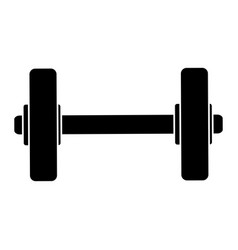 Weight lifting device gym vector
