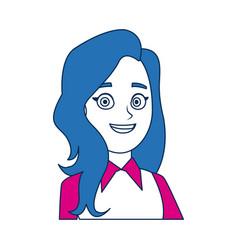 woman business character business portrait vector image