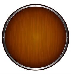 wooden shield vector image vector image