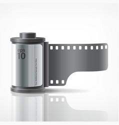 camera film roll silver vector image