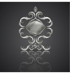 decorative shiny banner logo vector image vector image