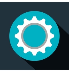gear setup machinery icon vector image