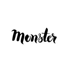 Monster Black Lettering vector image