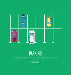 parking zone poster in flat style vector image vector image
