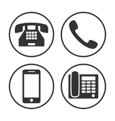 Set of simple phone icon vector image