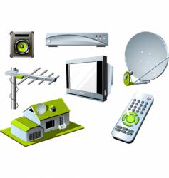 TV system vector image