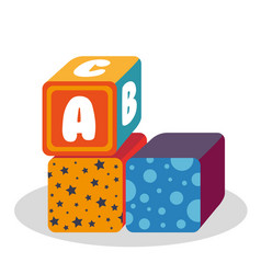 blocks with alphabet toy vector image vector image