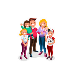 family character people vector image
