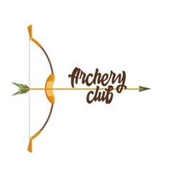 Archery club logo vector image