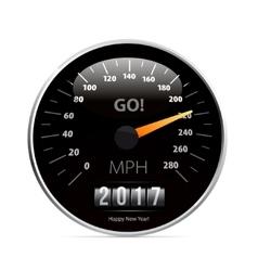 Calendar 2017 in speedometer car vector image vector image