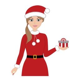 Christmas Woman vector image