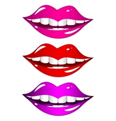 Mouth laughs Set vector image vector image