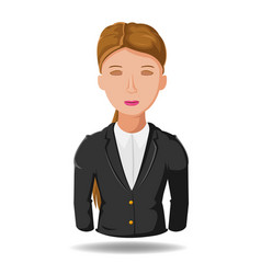 business woman working symbol cartoon vector image