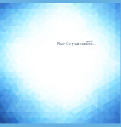 Abstract bright blue background vector