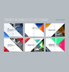 Abstract double-page brochure design triangular vector