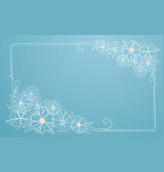 abstract hand drawn floral frame vector image