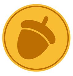 Acorn gold coin vector