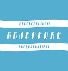Adventure cursive font vector