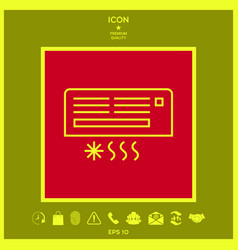 air conditioning icon vector image