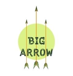 Archery club logo vector image