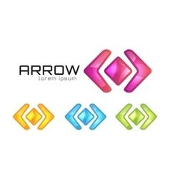 Arrow abstract logo template Web or app vector image