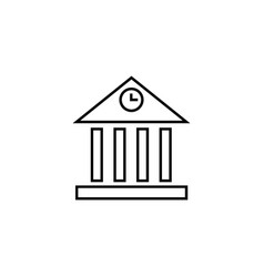 banking icon thin line vector image