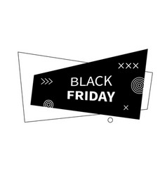 Black friday flat geometric banner vector