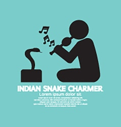 Black Symbol Indian Snake Charmer vector image