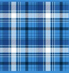 Blue tartan fabric texture vector