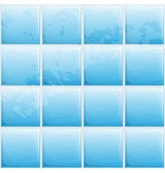 Blue tile seamless pattern vector