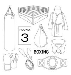 Boxing design elements vector
