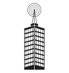 Building telecommunication mast television vector