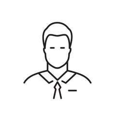 Businessman line icon vector