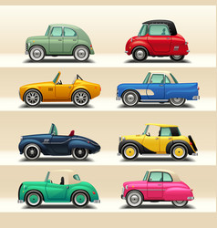 Car icon set-6 vector