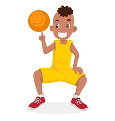 Cartoon basketball boy vector