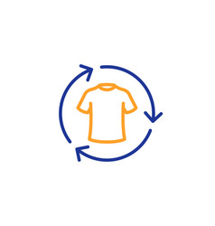 Change clothes line icon shirt sign clothing t vector
