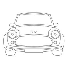 classic car front side vector image